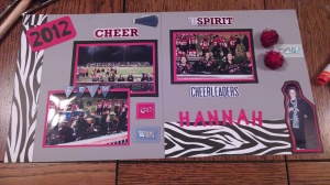 Hannah's scrapbook page
