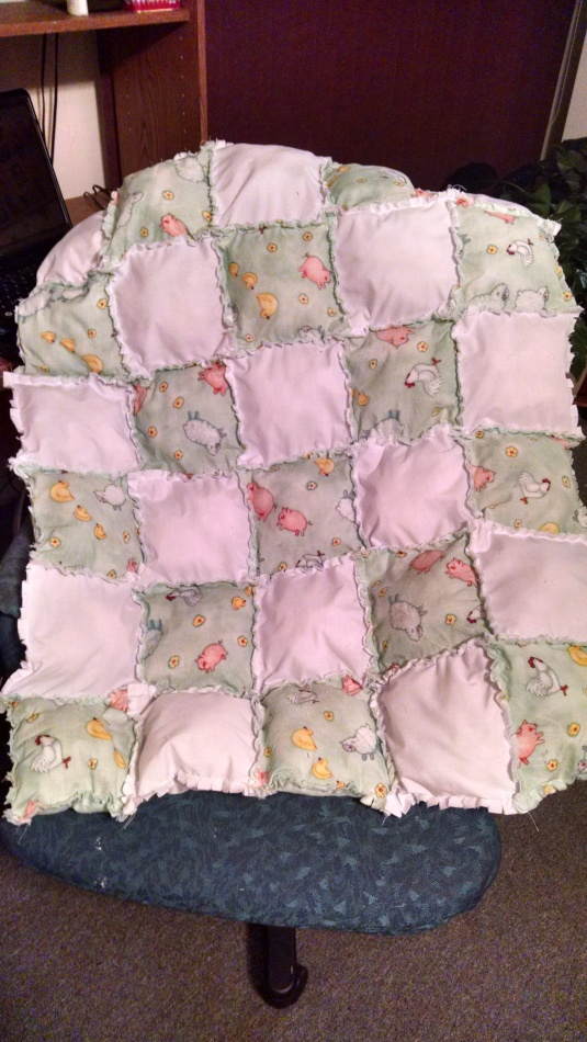 Animal Toss Pillow Quilt for Baby!