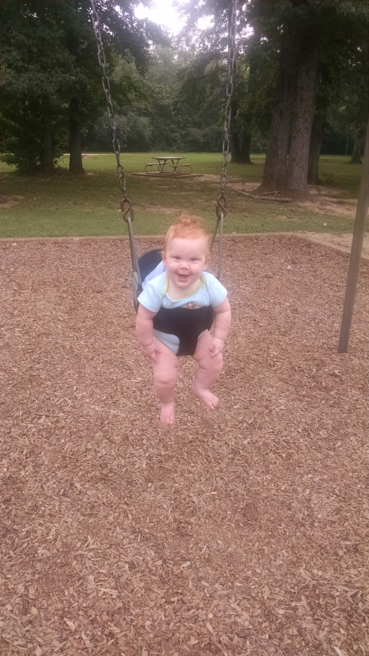 Jackson's first swinging adventure!