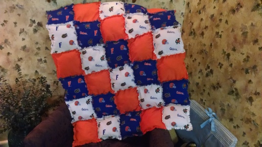 "U of Florida ""Gator"" quilt"