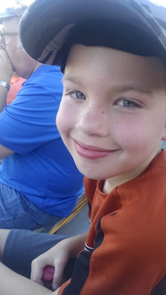 Grandson, Chris at the game
