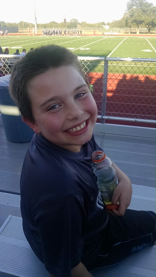 Grandson, James at the game