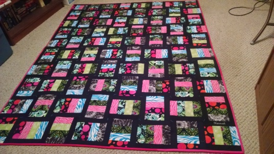 Hannah's quilt finished